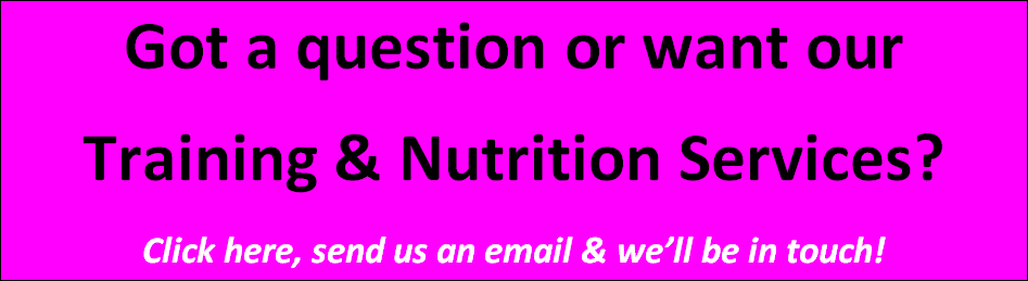 Call to action button Training Nutrition