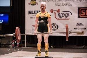 Kathryn Chilton 135kg deadlift lockout Worlds 2016