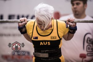 Kathryn Chilton squat setup Worlds 2016