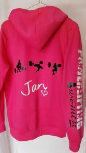 P4W Pink Zip Front Hoodie