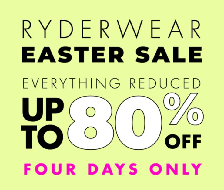 Ryderwear Easter Sale