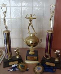 Shelley Stark INBA trophies