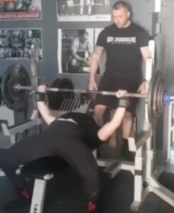 Hannah Altman Bench Press with Paul Thompson at IU Iron Underground, Brisbane