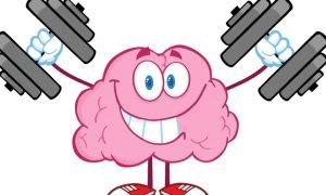 brain with dumbbells image