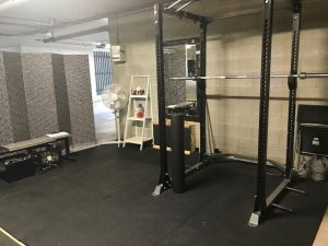Jenelle Schultz home gym being set up